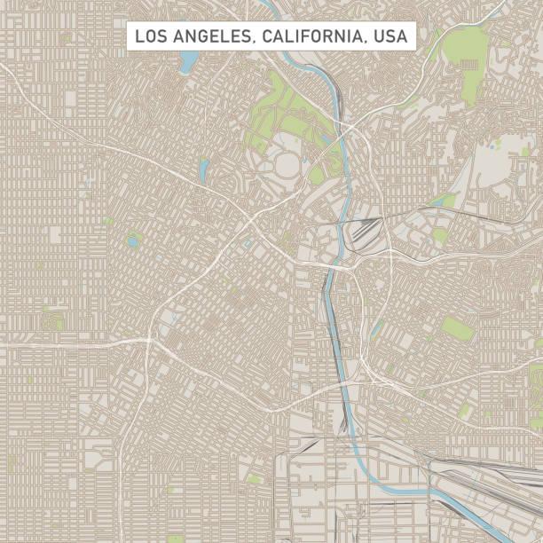 los angeles california us city street map - los angeles stock illustrations