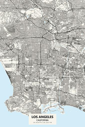 Los Angeles California Vector Map