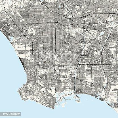 istock Los Angeles, California Vector Map 1250350482