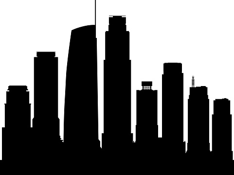 Los Angeles Silhouette (All Buildings Are Complete and Moveable)