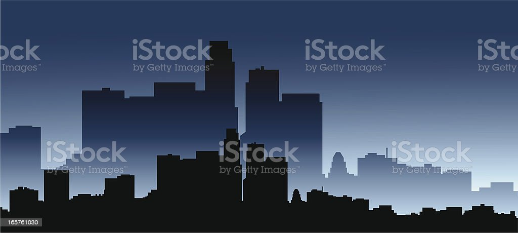 Los Angeles Skyline royalty-free los angeles skyline stock vector art & more images of building exterior
