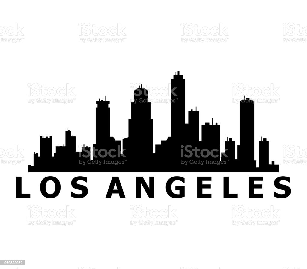 los angeles skyline stock vector art more images of architecture rh istockphoto com