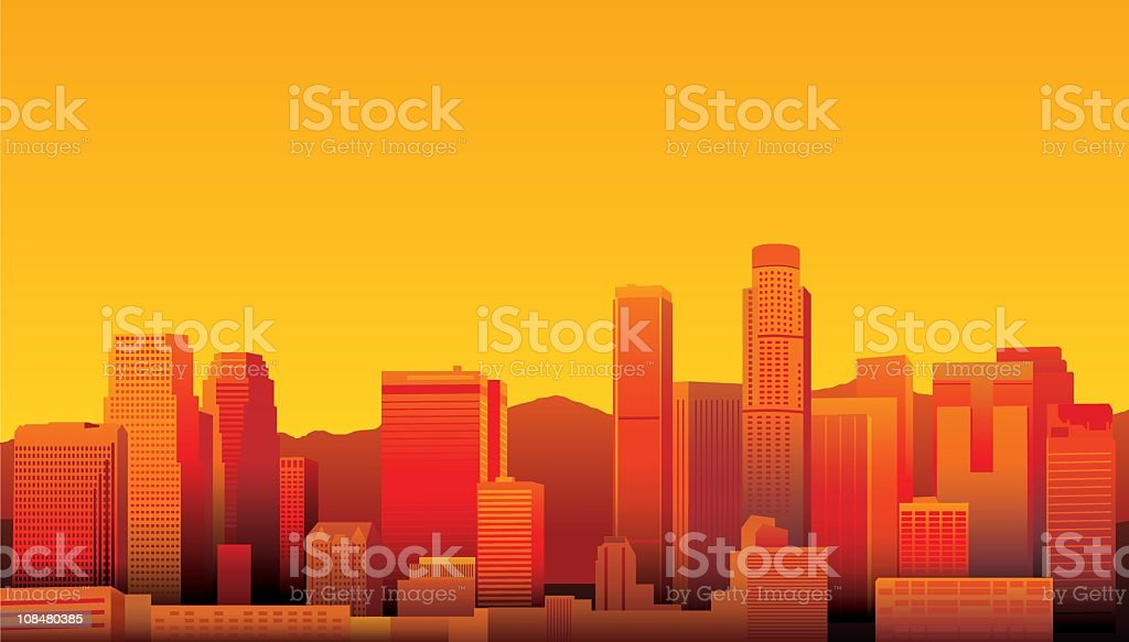 Los Angeles vector art illustration