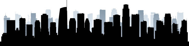 Los Angeles (All Buildings Are Complete and Moveable) vector art illustration