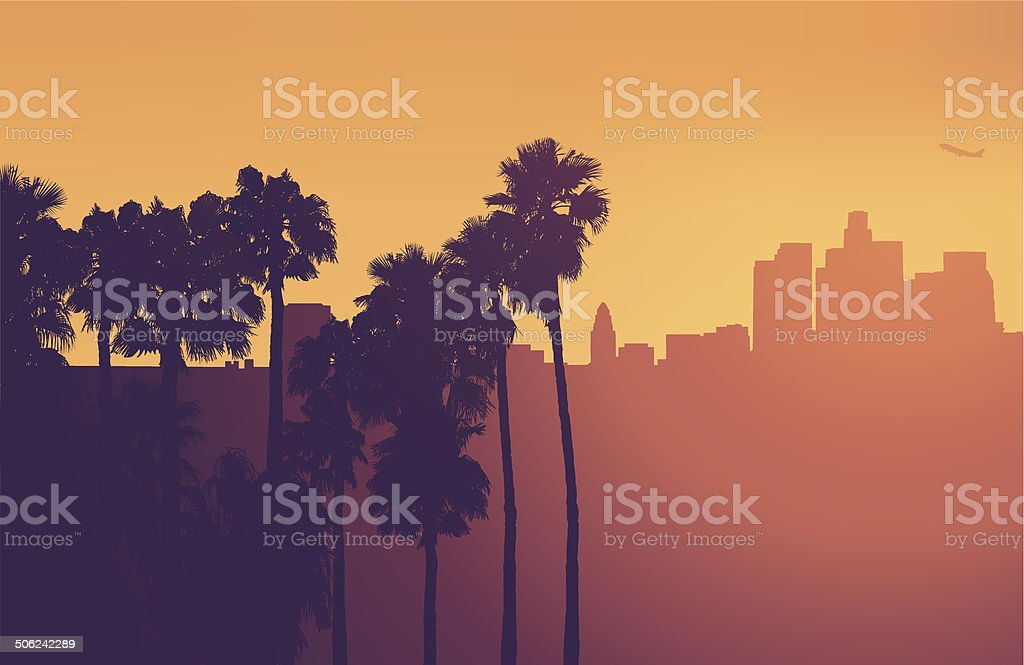 Los Angeles - Vector royalty-free los angeles vector stock vector art & more images of airplane