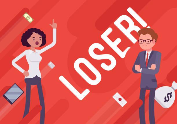illustrations, cliparts, dessins animés et icônes de perdant. affiche de démotivation affaires - emoji paresseux
