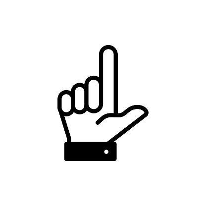 Loser hand sign stock illustration