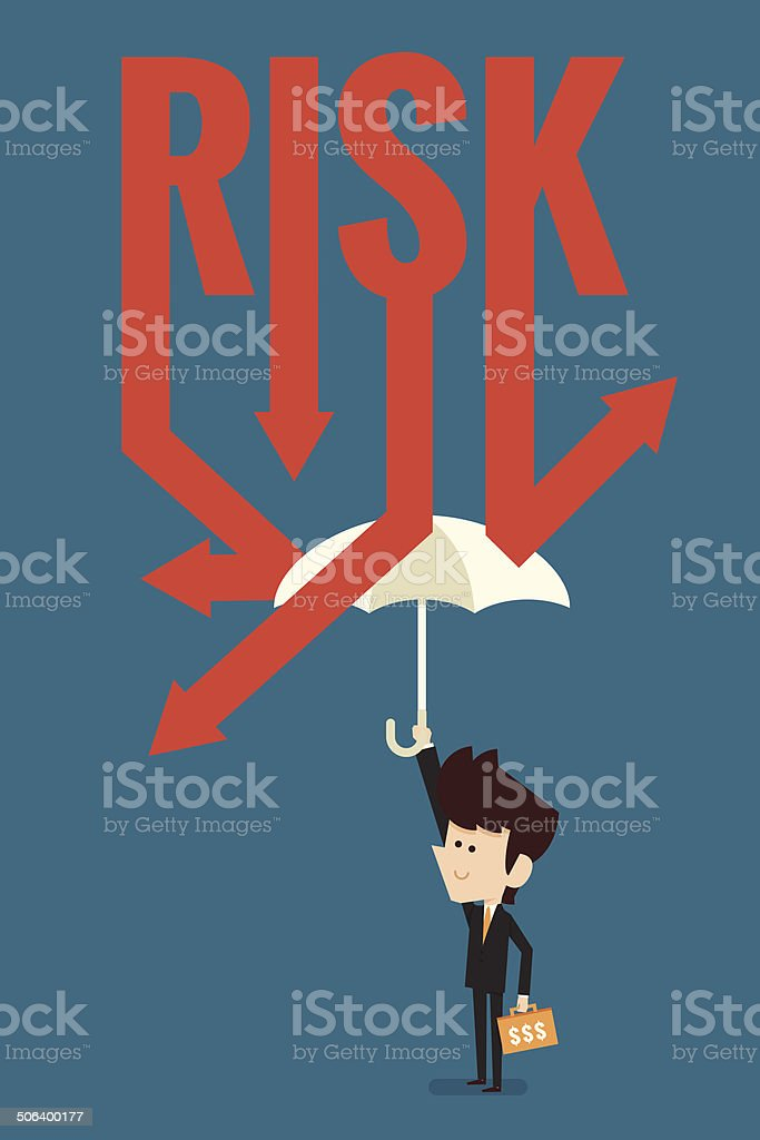 loss protection vector art illustration