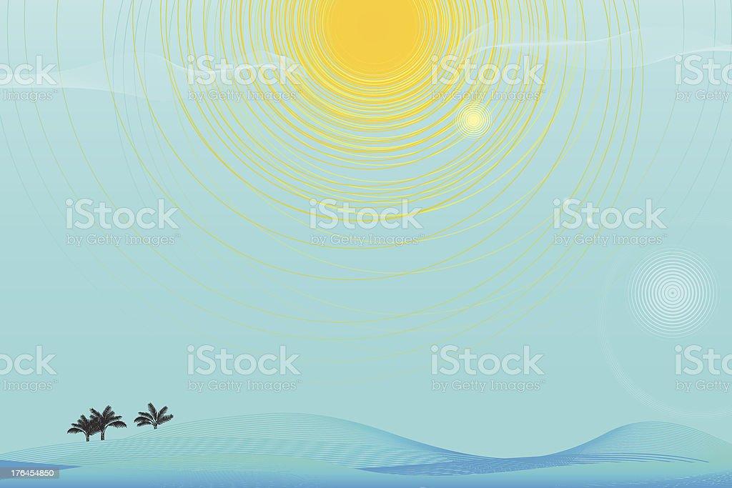 Lost at Sea royalty-free stock vector art