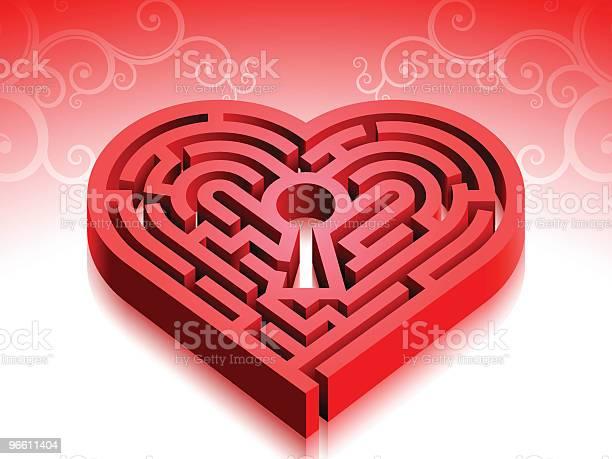 Perdido No Amor - Arte vetorial de stock e mais imagens de Amor