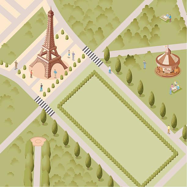 Lost in Paris vector art illustration