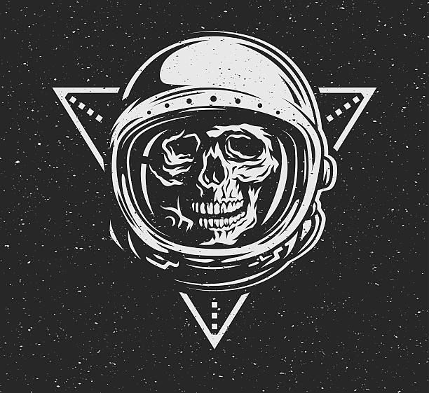 lost in space. dead astronaut in spacesuit and geometric element - lost stock illustrations