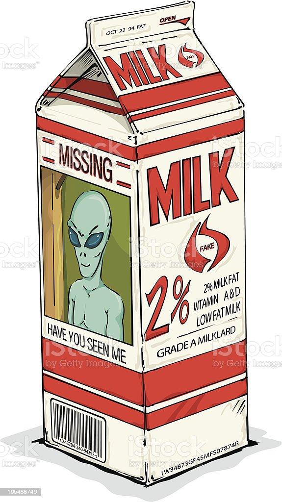 Lost Milk royalty-free stock vector art
