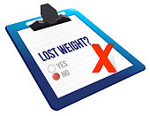 lost weight yes or no selection illustration design over white