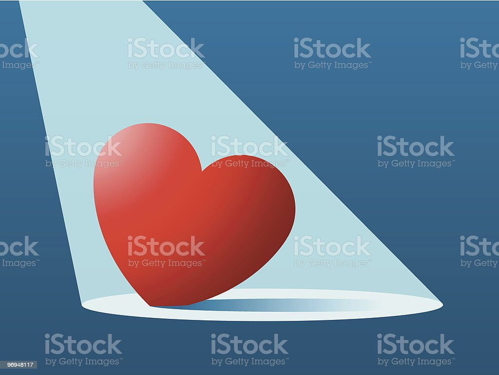 Lost/found heart in spotlight royalty-free lostfound heart in spotlight stock vector art & more images of art and craft