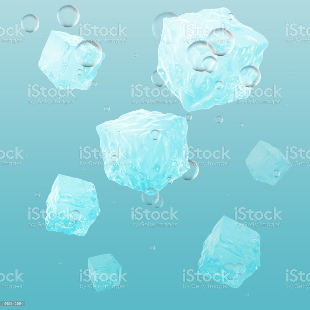 A lot of ice cubes in water, vector illustration royalty-free a lot of ice cubes in water vector illustration stock vector art & more images of belarus
