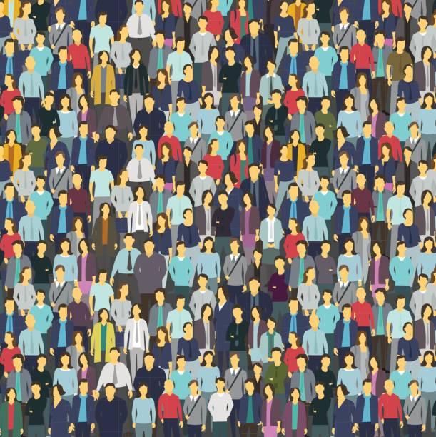 stockillustraties, clipart, cartoons en iconen met een heleboel mensen, kleurrijke textuur. achtergrond van de menigte - grote groep mensen