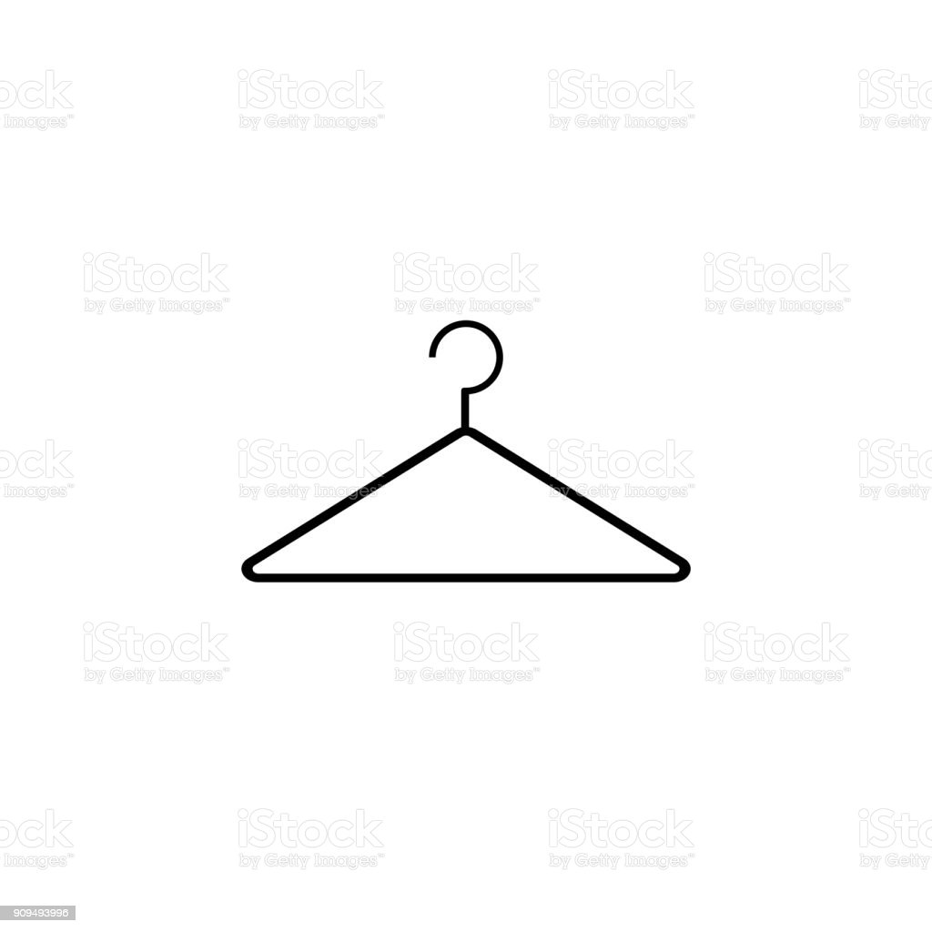 Сlothes hanger, vector icons  - Illustration