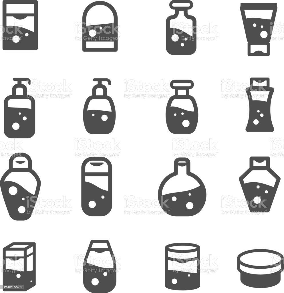 lotion cream cosmetic bottle set vector vector art illustration