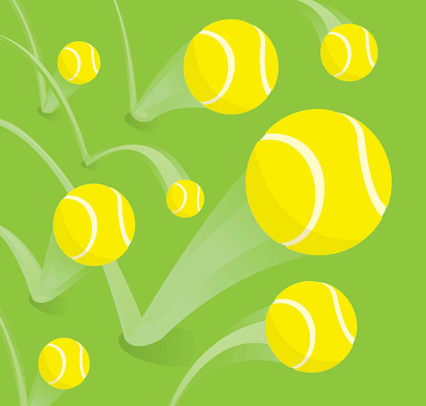 lots of tennis balls bouncing - tennis stock illustrations, clip art, cartoons, & icons