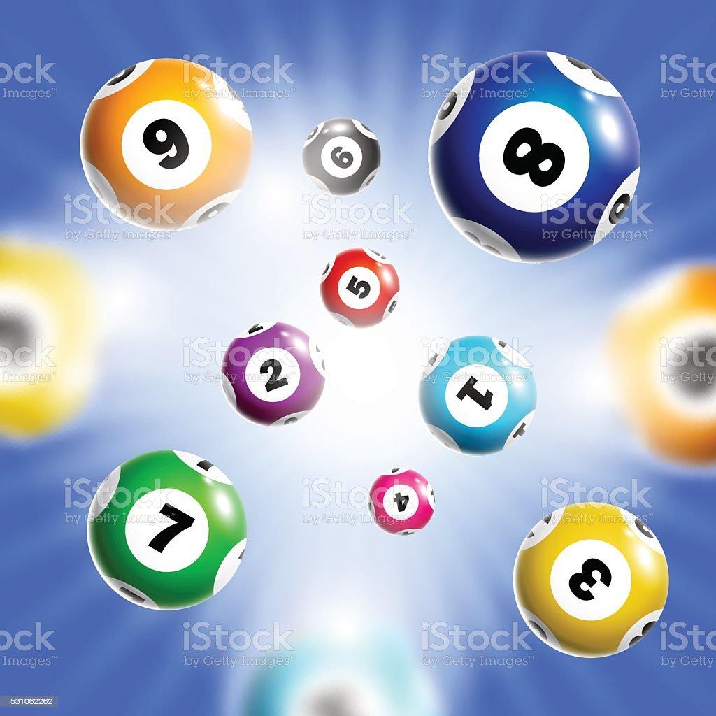 Artículos de lotería fondo. - ilustración de arte vectorial