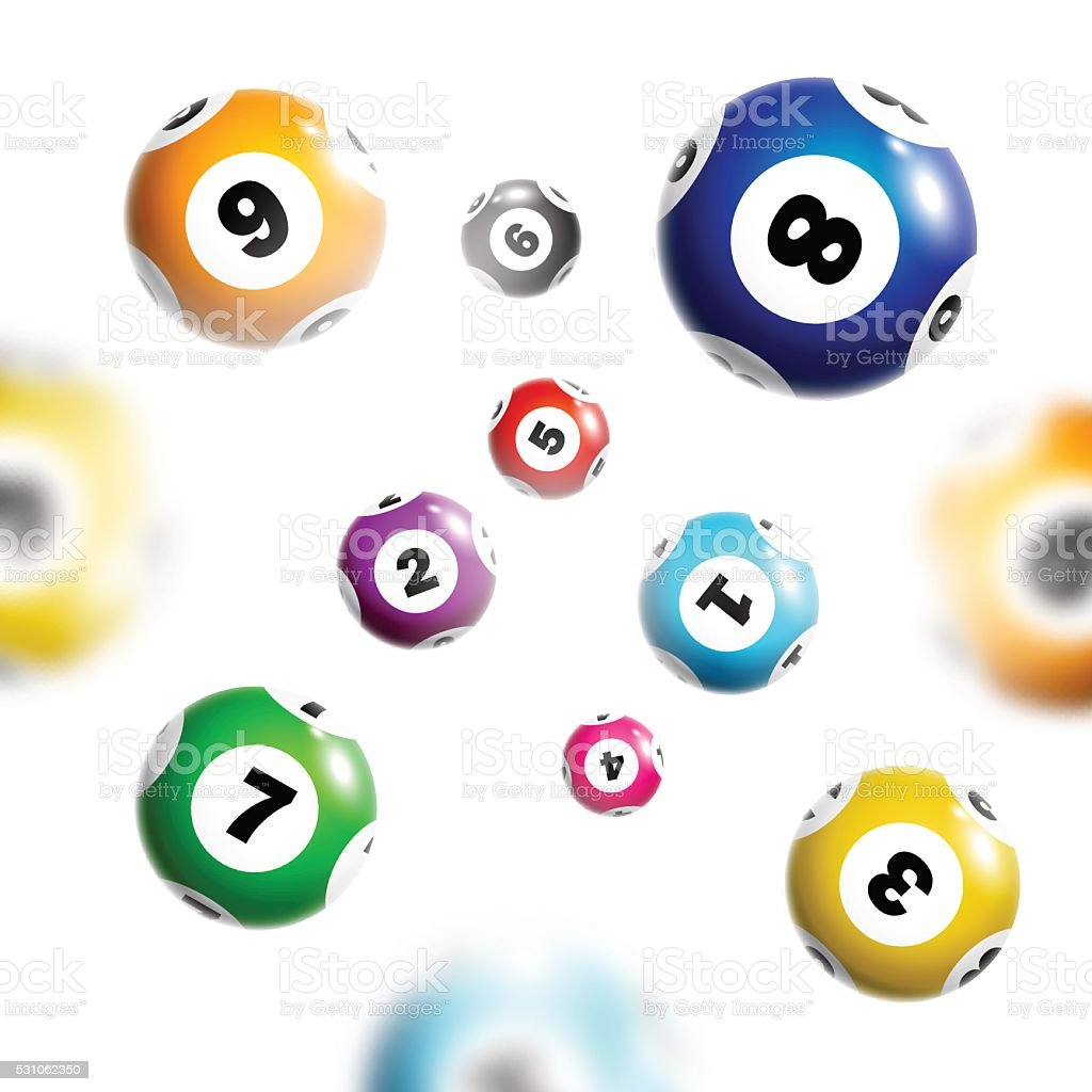 Lottery background with colorful balls. vector art illustration