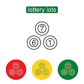 Lottery balls icon. Numbers Icons. Bingo or lottery balls isolated.Lotto balls vector image. Keno. Outline illustration of lottery concept for web design, mobile application. Editable stroke.