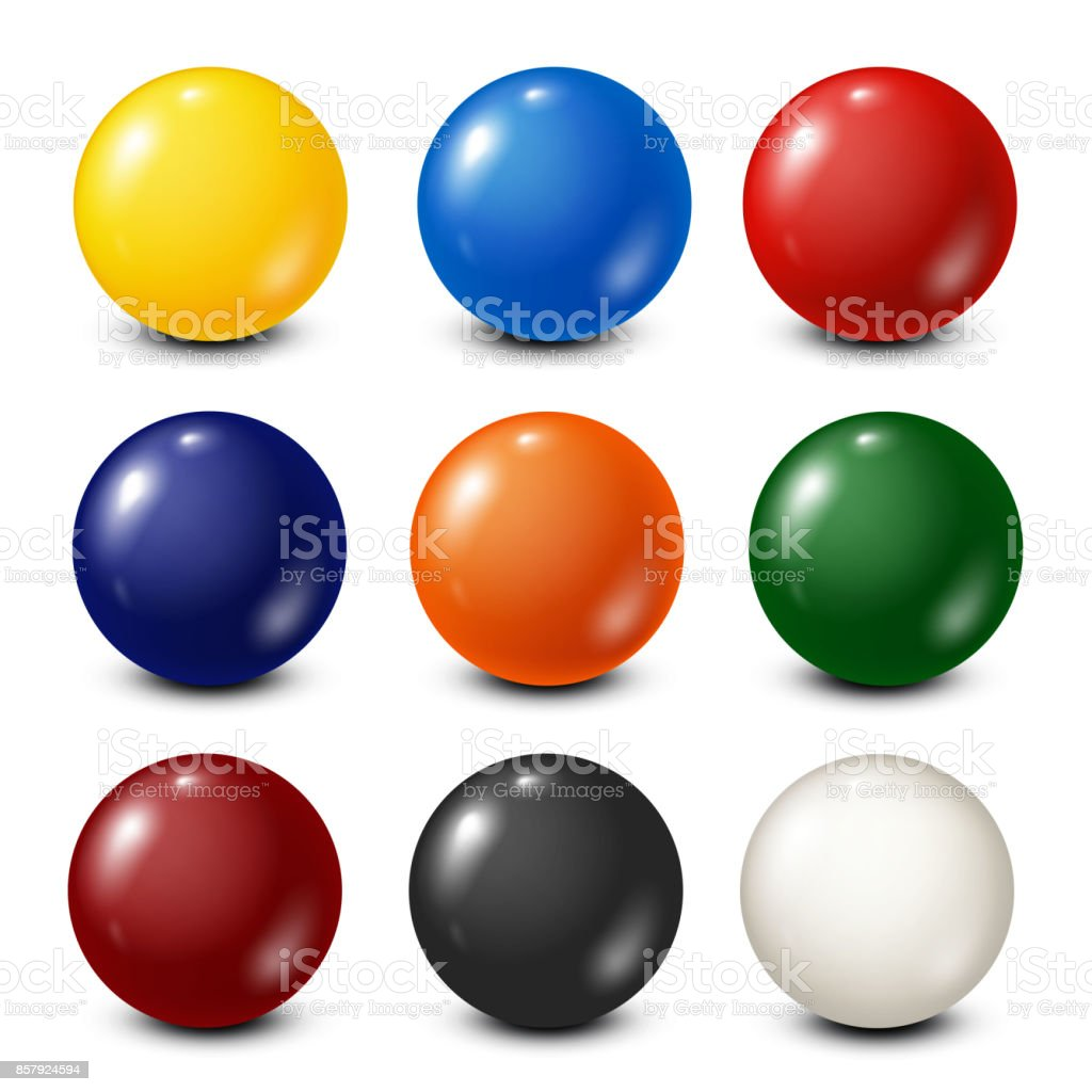 Lottery, billiard,pool balls collection. Snooker. White background. Vector illustration vector art illustration