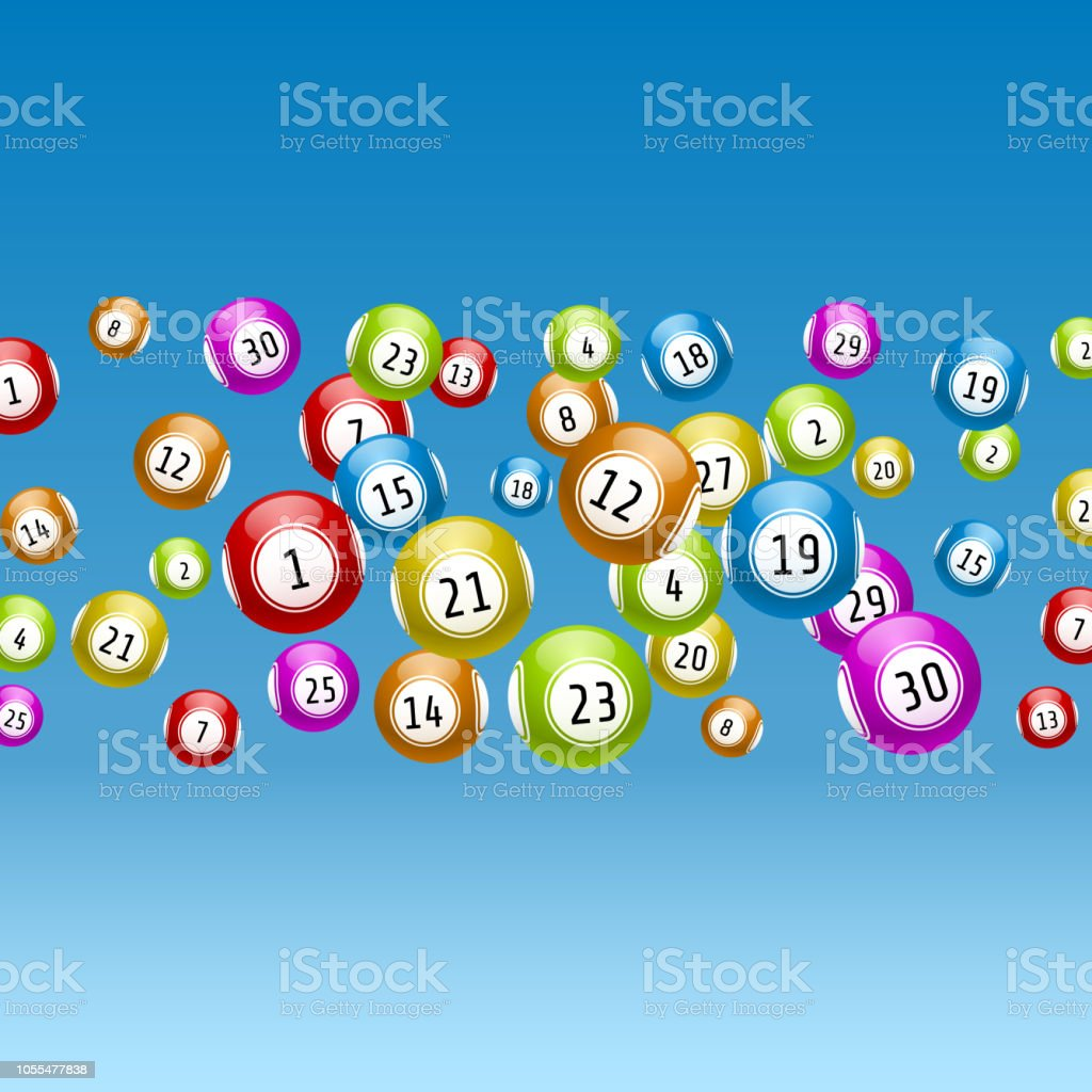 Lottery Game Balls With Numbers On A Colored Background Vectors ...
