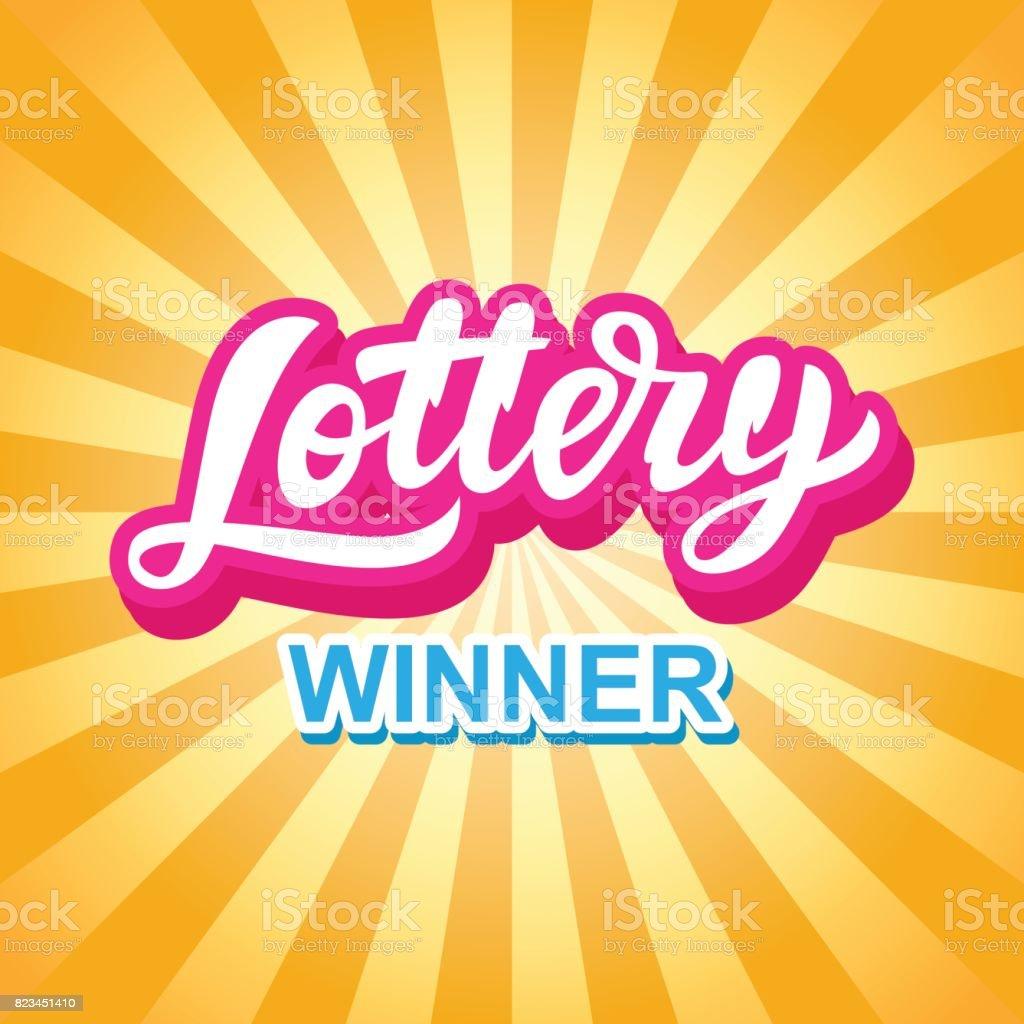 Lottery Game Banner. Modern Hand Lettering vector art illustration