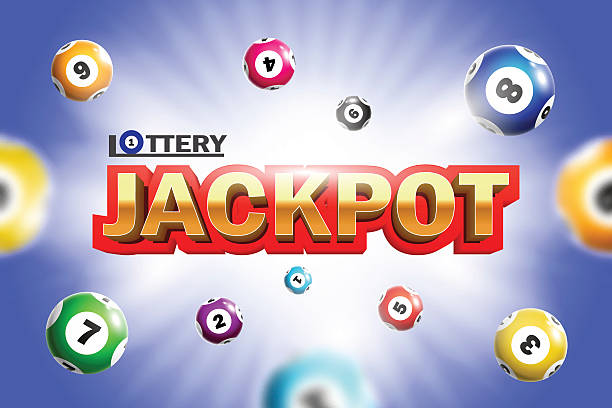 Lottery Jackpot background. Lottery Jackpot background with colorful balls. lottery stock illustrations