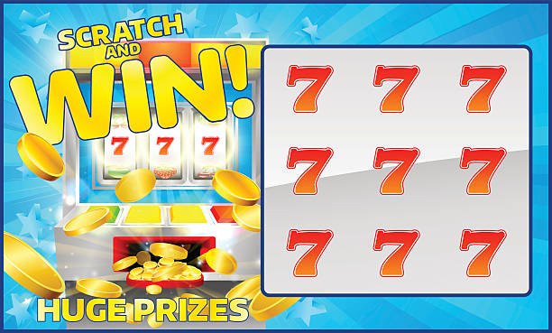 Scratch card clip art vector images illustrations istock lottery scratch and win card vector art illustration sciox Images