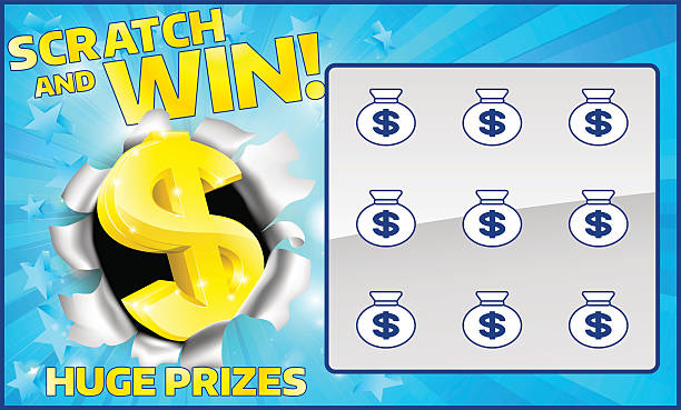 Lottery Scratch Card A lottery instant scratch and win scratchcard lottery stock illustrations