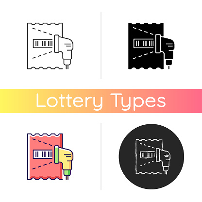 Lottery ticket scanner icon