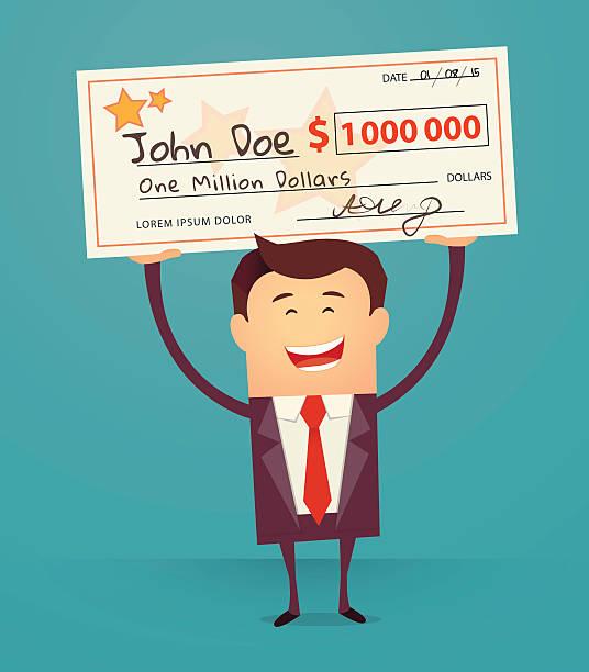 лотерея - dollar bill stock illustrations