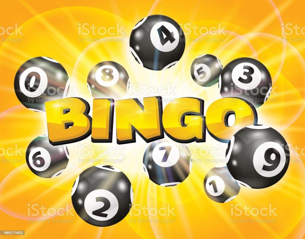 Lotto balls around the word Bingo - ilustração de arte em vetor