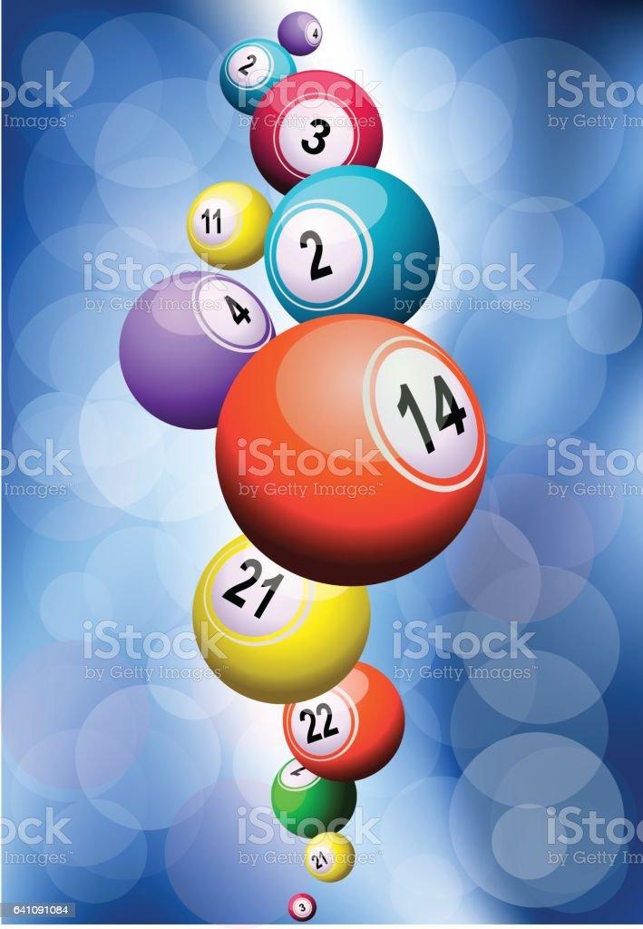 Bolas de loto - ilustração de arte em vetor