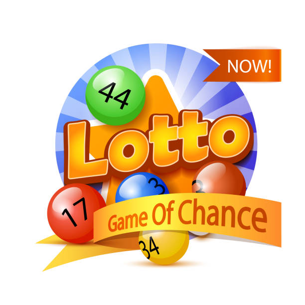 Lotto Game Logo Lotto Game Logo Template Isolated On White lottery stock illustrations