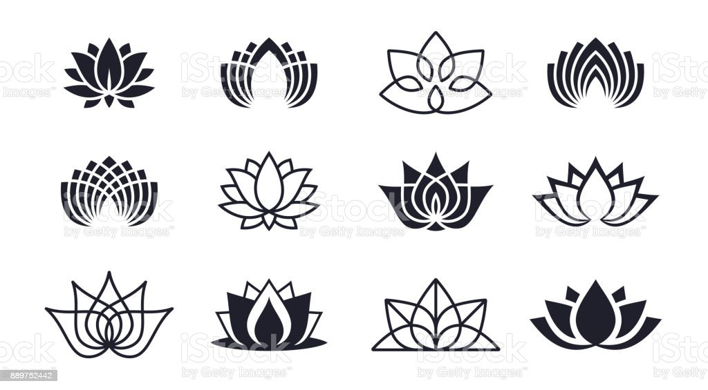Lotus Blossoms vector art illustration