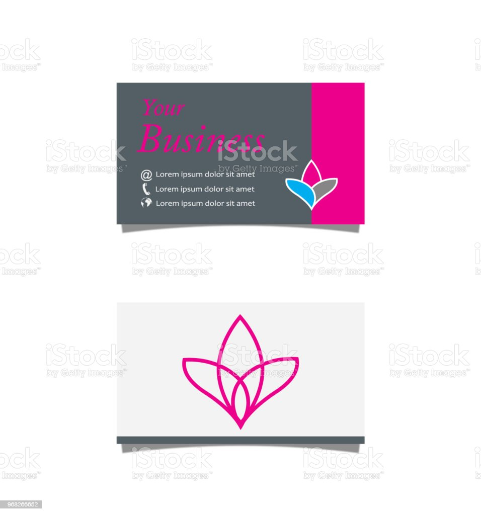 Lotus Business Card Stock Vector Art & More Images of Abstract ...