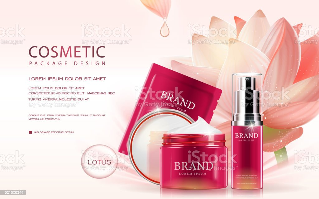Lotus cosmetic ads template Lizenzfreies lotus cosmetic ads template stock vektor art und mehr bilder von bildeffekt