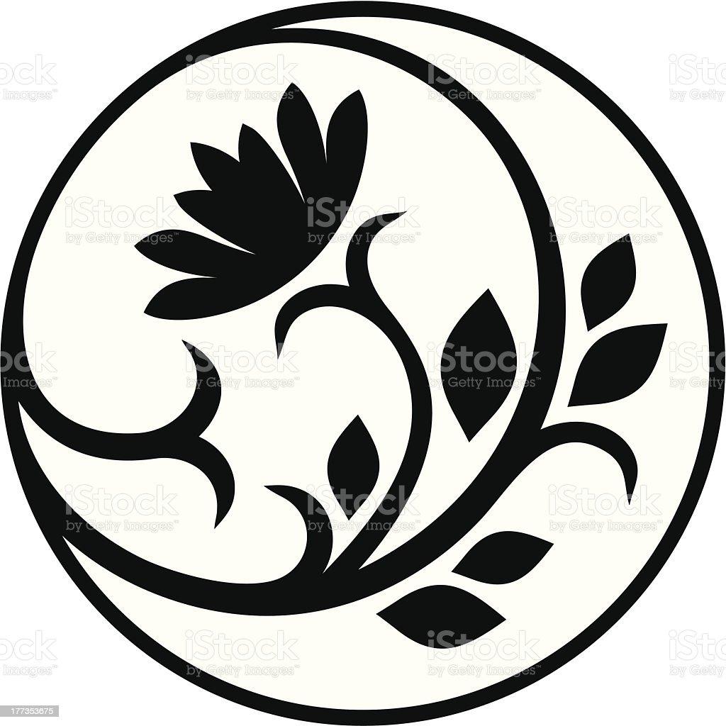 Lotus decor vector art illustration