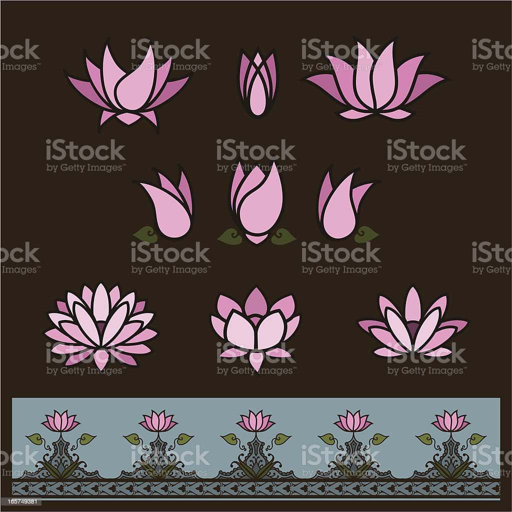 Lotus Elements royalty-free lotus elements stock vector art & more images of beauty