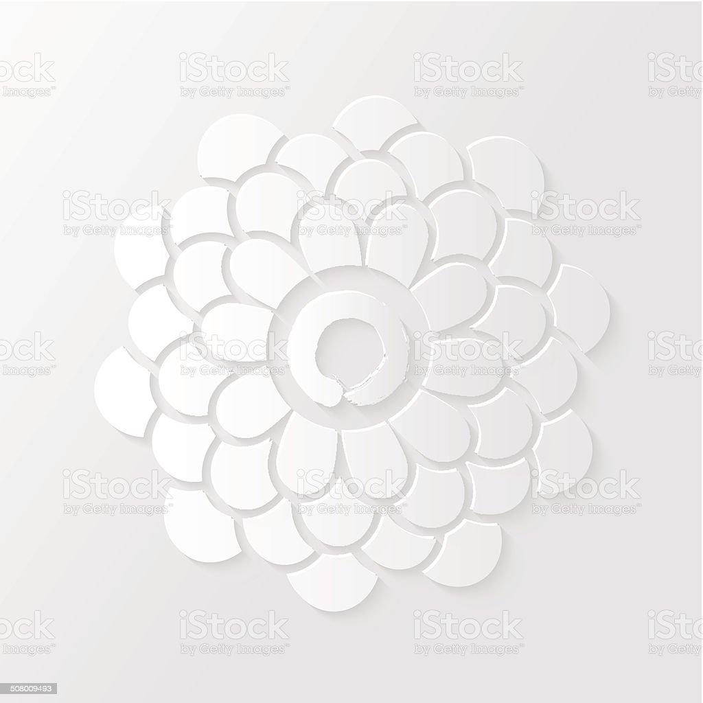 Lotus flower and Zen circle illustration vector art illustration