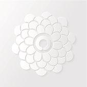 Lotus flower and Zen circle illustration