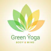 Lotus flower as symbol of yoga