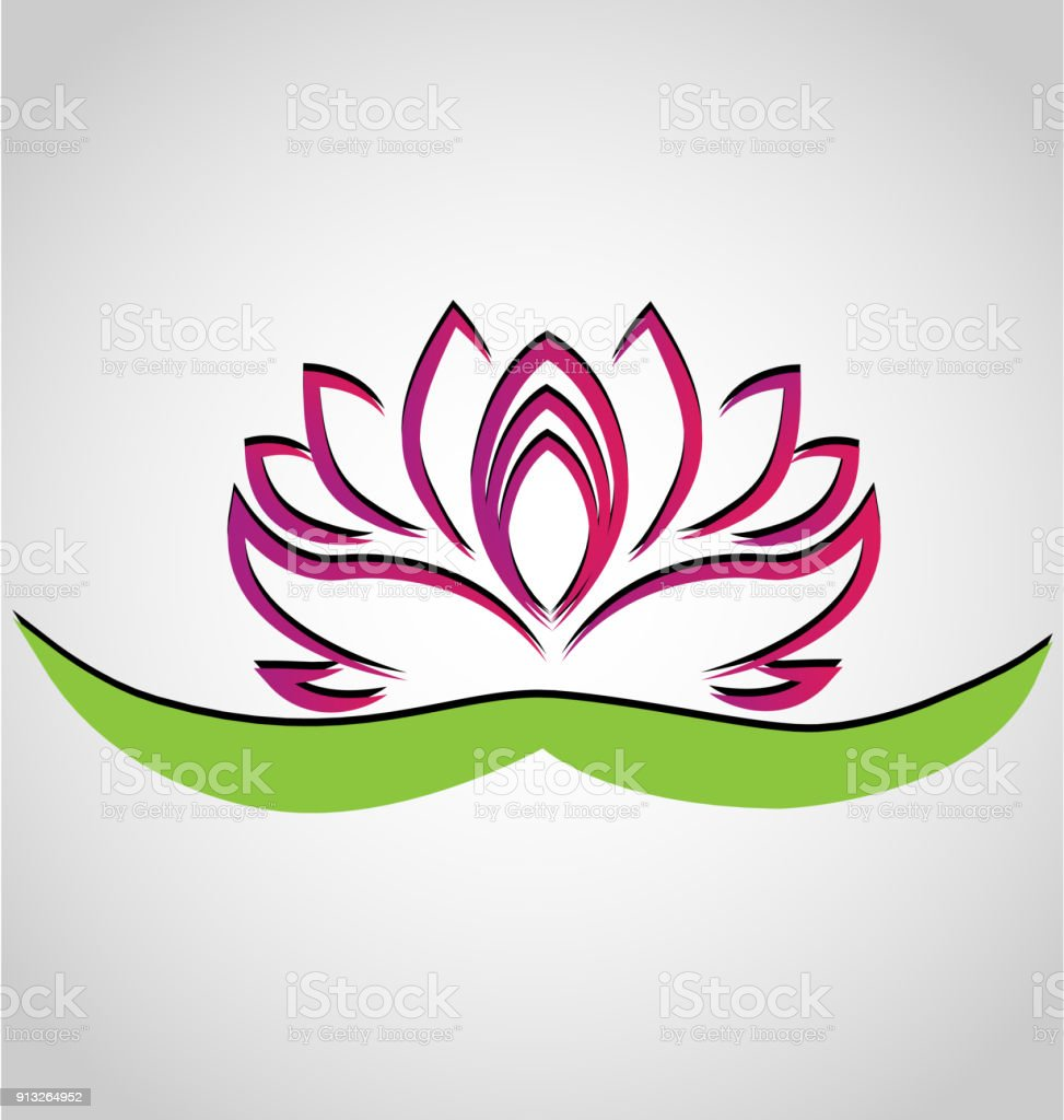 Lotus flower chinese symbol vector icon design stock vector art chinese symbol vector icon design royalty free stock vector art biocorpaavc Images