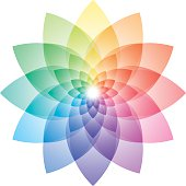 Beautiful Lotus Flower Color Wheel. Vector EPS10.Please see similar images in my portfolio.