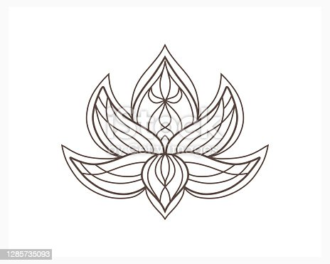 Lotus Flower Coloring Page Vector Free Ai Svg And Eps