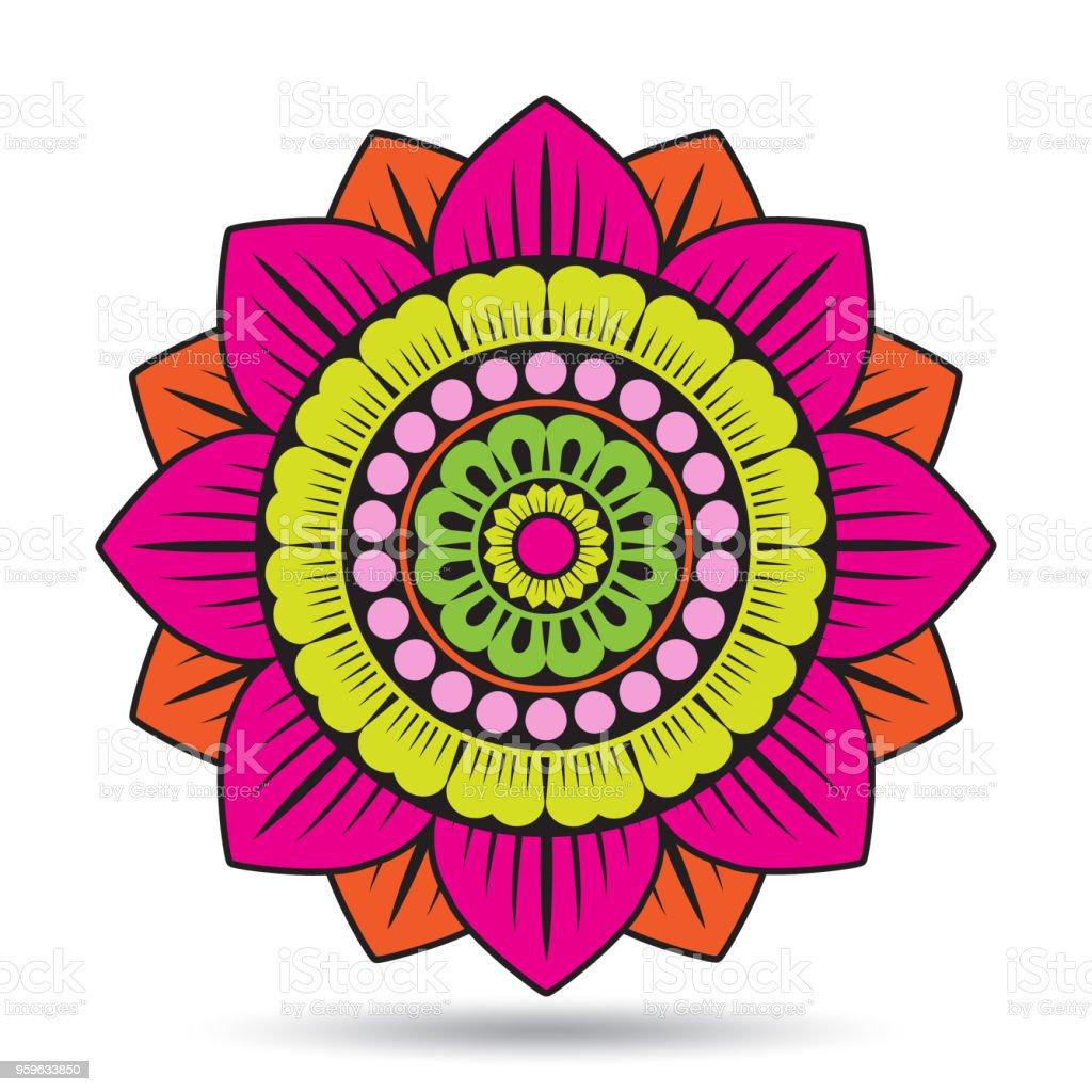 Lotus Flower Elements Oriental Ornament Graphic Vector Illustration